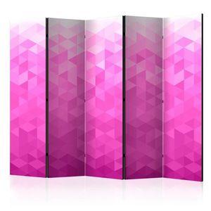 Paraván Pink pixel Dekorhome 225x172 cm (5-dielny) vyobraziť