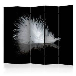 Paraván White feather Dekorhome 225x172 cm (5-dielny) vyobraziť