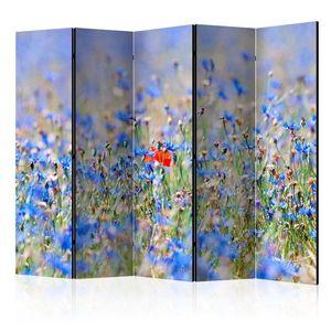 Paraván A sky-colored meadow - cornflowers Dekorhome 225x172 cm (5-dielny) vyobraziť