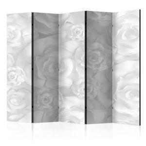 Paraván Plaster Flowers Dekorhome 225x172 cm (5-dielny) vyobraziť