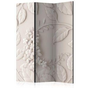 Paraván Paper Flowers (Cream) Dekorhome 135x172 cm (3-dielny) vyobraziť