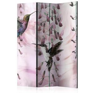 Paraván Flying Hummingbirds (Pink) Dekorhome 135x172 cm (3-dielny) vyobraziť