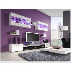 Artcam Obývacia stena CAMA I Farba: biela/čierna vyobraziť