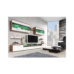 Artcam Obývacia stena CAMA I Farba: Slivka/biela vyobraziť