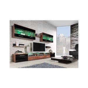 Artcam Obývacia stena CAMA I Farba: Slivka/čierna vyobraziť