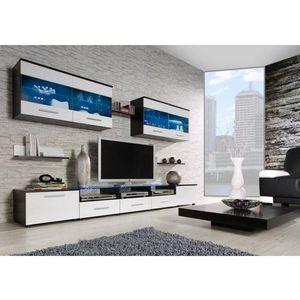 Artcam Obývacia stena CAMA I Farba: wenge/biela vyobraziť