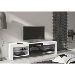 WIP TV STOLÍK FLEX Farba: Biela / čierny lesk vyobraziť