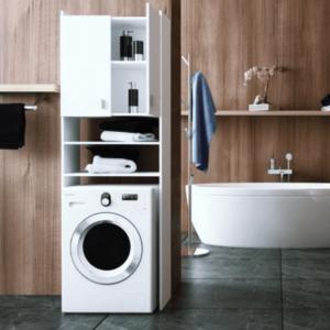 Tempo Kondela Kúpelňa Natali Natali: skrinka na práčku typ 1 biela vyobraziť