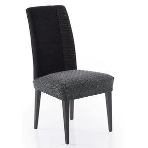 Poťah elastický na sedák stoličky, MARTIN, tm.šedá, komplet 2 ks, vyobraziť