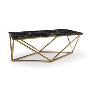 Besoa Black Onyx I, konferenčný stolík, 110 x 42, 5 x 55 cm (Š x V x H), mramorový vzhľad, zlatý/čierny vyobraziť