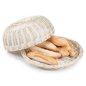 Chlebník prútený bielený okrúhly Musette V. vyobraziť