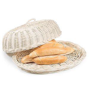 Chlebník prútený oválny bielený Musette III. vyobraziť