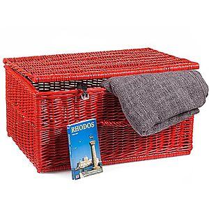 Kufor prútený červený Putnik V. vyobraziť