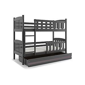 BMS Detská poschodová posteľ KUBUŠ / SIVÁ Farba: Sivá / sivá, Rozmer.: 200 x 90 cm vyobraziť