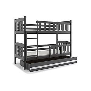BMS Detská poschodová posteľ KUBUŠ / SIVÁ Farba: Sivá / biela, Rozmer.: 200 x 90 cm vyobraziť