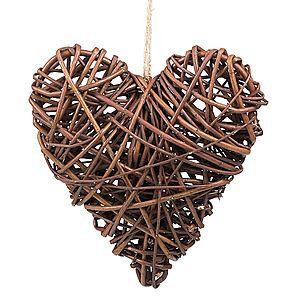 Dekorácia srdce prútie vyobraziť