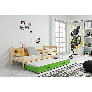 BMS Detská posteľ s prístelkou ERYK | BOROVICA Farba: Borovica / biela, Rozmer.: 190 x 80 cm vyobraziť