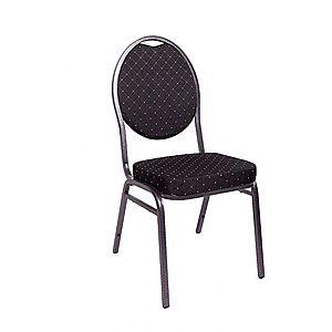Kvalitná stolička kovová Monza - čierna vyobraziť