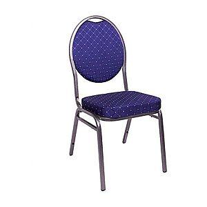 Kvalitná stolička kovová Monza - modrá vyobraziť