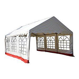 Záhradný stan - biela / červená, 4 x 6 m vyobraziť