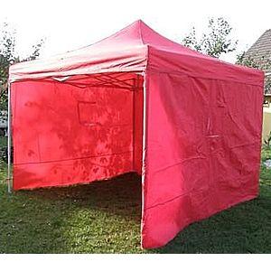 Záhradný párty stan DELUXE nožnicový + bočné steny - 3 x 3 m červená vyobraziť