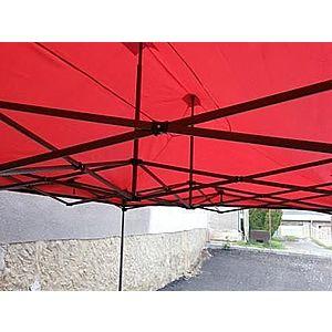 Záhradný párty stan DELUXE nožnicový - 3 x 3 m červená vyobraziť