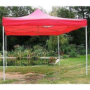 Záhradný párty stan CLASSIC nožnicový - 3 x 3 m červený vyobraziť