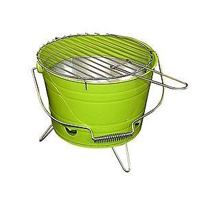 Mini BBQ gril vedro zelený vyobraziť