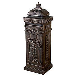 Dekoratívna poštová schránka antik - tmavá mosadz vyobraziť