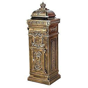 Poštová schránka antik svetlá mosadz vyobraziť
