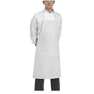 EGOCHEF Čierna kuchárska zástera ku krku s vreckom vyobraziť