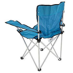 Skladacia stolička s držiakom nápojov - modrá vyobraziť