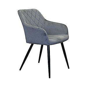 Jedálenská stolička DIAMANT sivý zamat vyobraziť