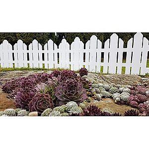 Záhradný plôtik Home biela, 2, 3 m vyobraziť