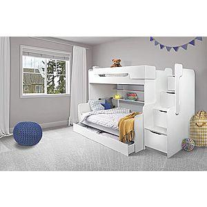 ArtBed Detská poschodová posteľ Harry Farba: biela/ružová vyobraziť