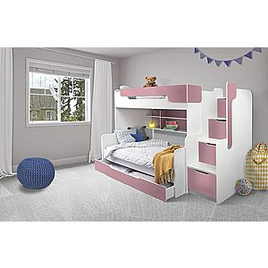ArtBed Detská poschodová posteľ Harry Farba: biela/biela vyobraziť