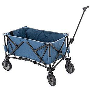 Transportný skladací vozík - modrý vyobraziť