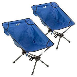 Set kempingových kresielok, modrý vyobraziť