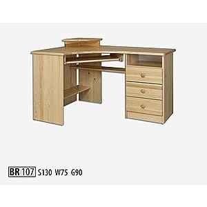 BR107 Písací stôl rohový vyobraziť