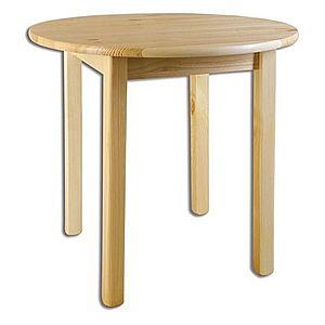 ST105 Jedálenský stôl okrúhly, priemer plochy 80 cm vyobraziť