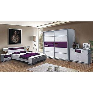 DUBLIN spálňa, biela/fialová vyobraziť