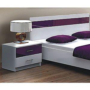 DUBLIN nočný stolík, biela/fialová vyobraziť