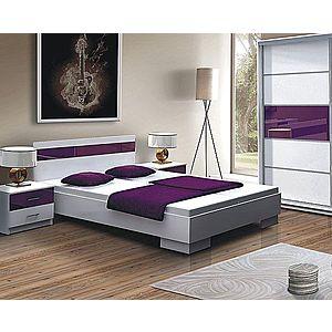 DUBLIN posteľ 160x200, biela/fialová vyobraziť