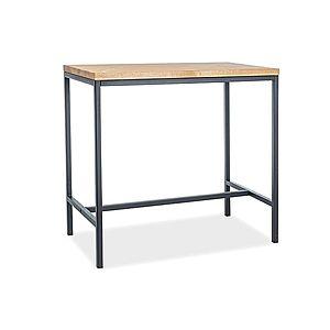 Byvajsnami SK, MAKRO barový stolík, masív, dub/čierna vyobraziť