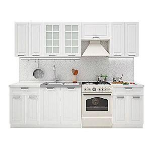 PRAHA 260 kuchynská zostava, biela/biele drevo vyobraziť