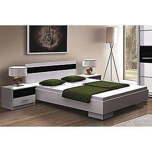 DUBLIN posteľ 160x200, biela/čierna vyobraziť