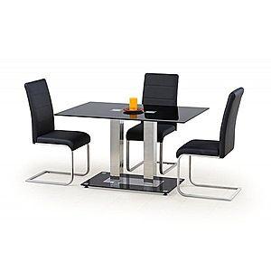 Jedálenský stôl sklenený WALTER 2 čierna Halmar vyobraziť