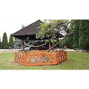 Záhradný plôtik 2, 3 m terakota vyobraziť