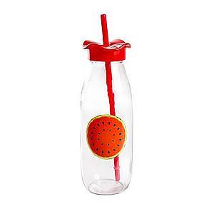 TORO Sklenená fľaša s viečkom a slamkou TORO 500ml ovocie vyobraziť