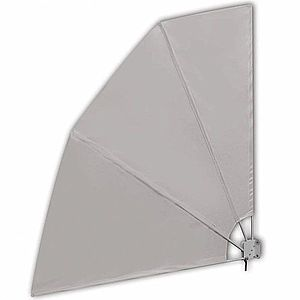 Skladacia zástena proti vetru 210 x 210 cm Krémová vyobraziť